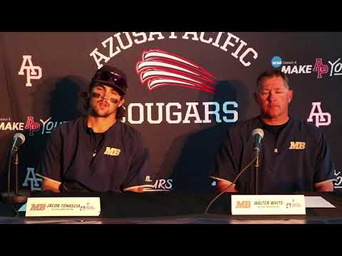 2018 Baseball West Regional Game Five: Point Loma vs. Cal State Monterey Bay - CSMB Press Conference