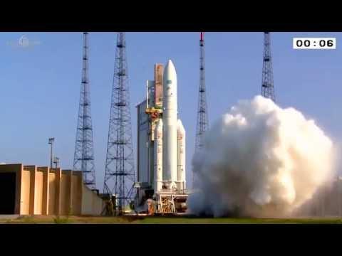 Ariane 5 flight VA225 liftoff and delivered two argentine telecom satellites