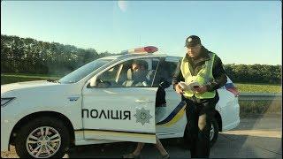 Полиция разводит водителя на синьку ВЗЯТКА 100$