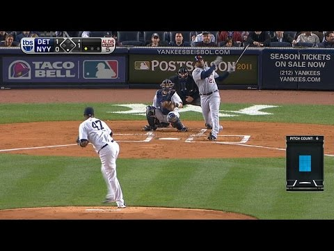 2011 ALDS Gm5: Young blasts a solo shot in the first