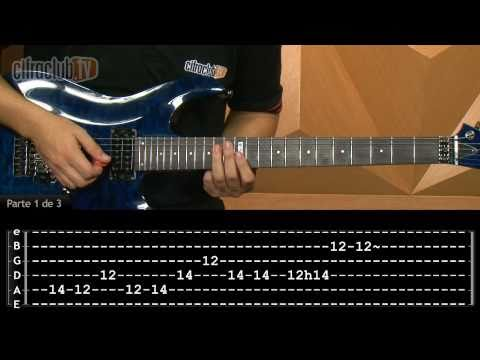 For Whom The Bell Tolls - Metallica (aula de guitarra completa)