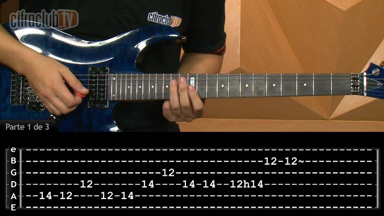 For Whom The Bell Tolls - Metallica (aula de guitarra completa) - YouTube