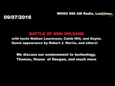 WGSO 990 AM Radio Show - Battle of New Orleans