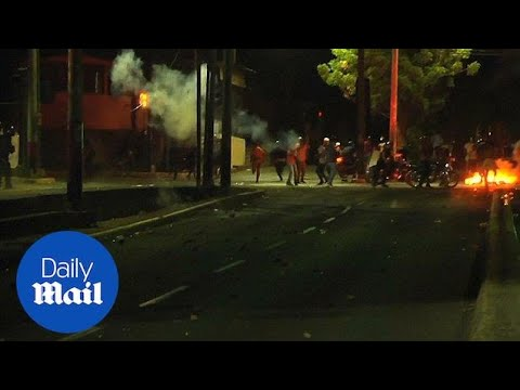 Protests against the government in Nicaragua turn violent - Daily Mail