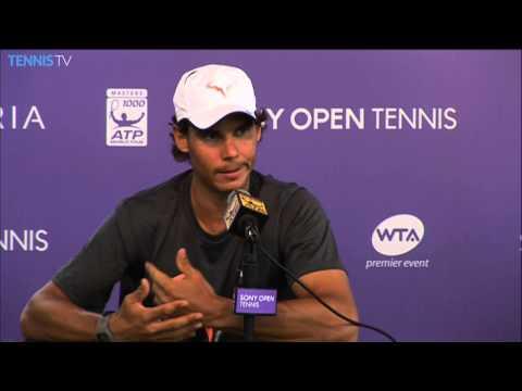 Nadal Plays Djokovic In The Sony Open Tennis Final