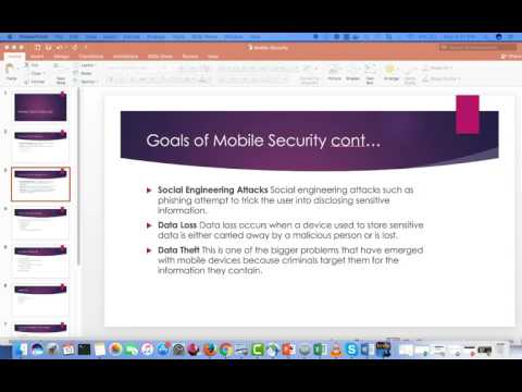 11 - Principles of Information Security and Privacy 6200 - Mobile Security