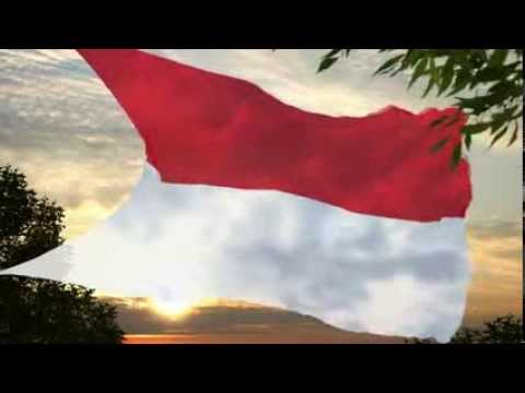 Indonesia Flag & National Anthem Travel Video