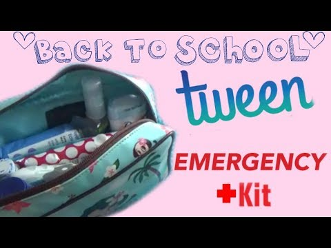 DIY GIRL'S EMERGENCY KIT ( FOR SCHOOL)