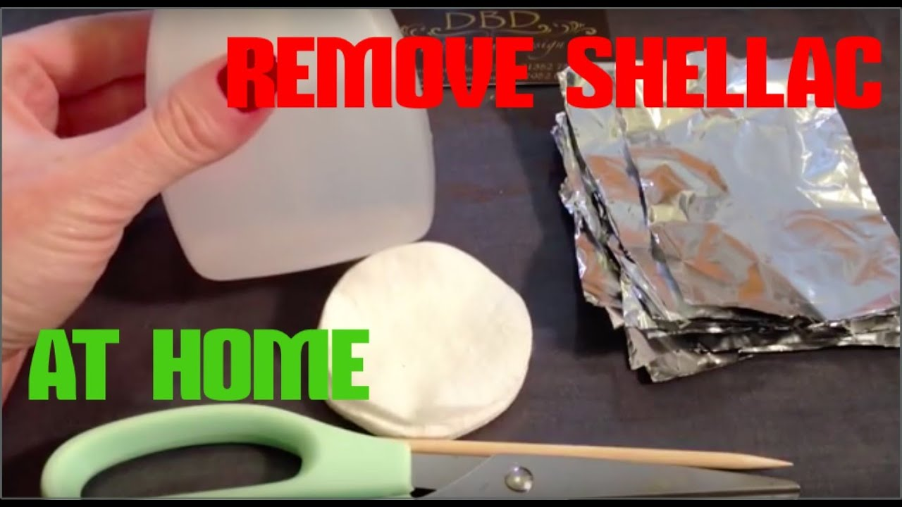 how to remove shellac nails safely at home with foil. Black Bedroom Furniture Sets. Home Design Ideas
