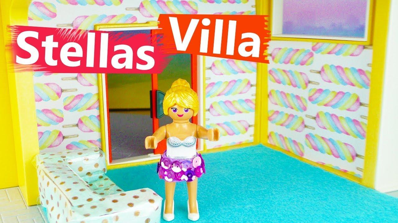Playmobil Luxus Villa Einrichtung Wohnzimmer DIY deutsch | Stellas NEUE  VILLA | Boden & Wand