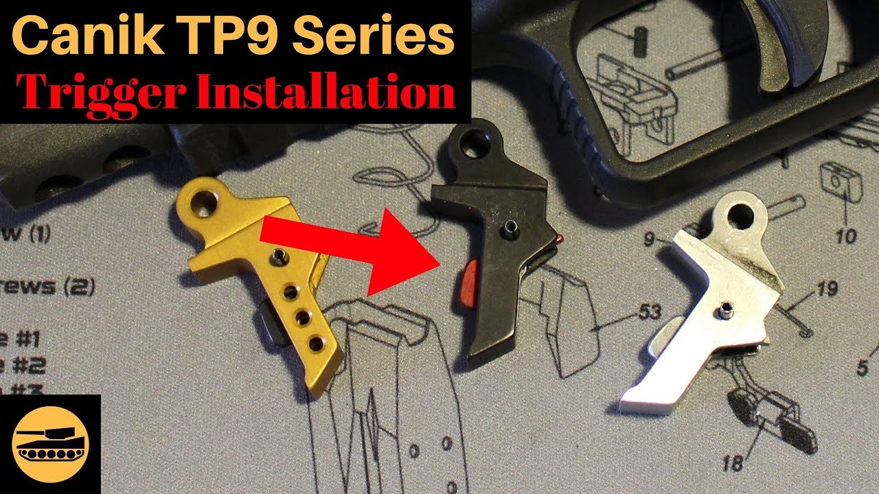 Canik TP9 Series Aftermarket Trigger Installation - hmong video