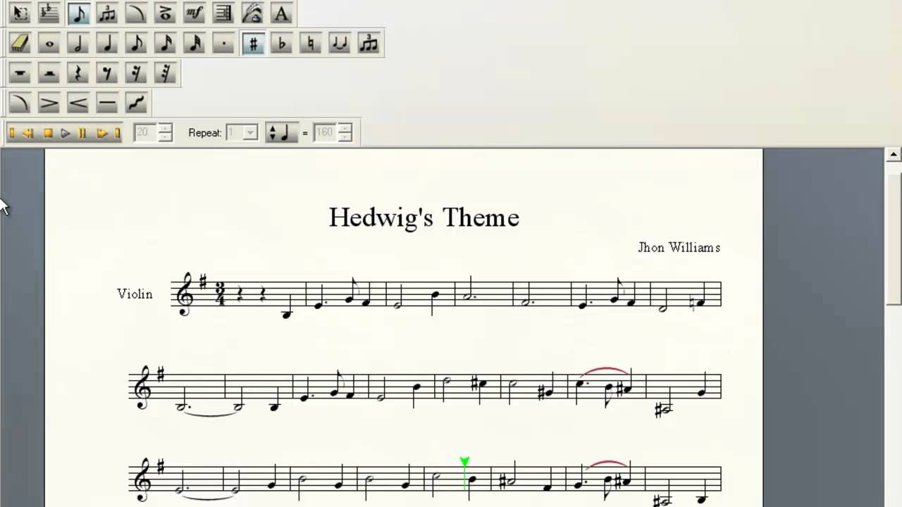 image about Harry Potter Theme Song Piano Sheet Music Printable Free named Hedwigs Concept Violin Sheet New music
