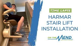 Time Lapse 🎥💚💙 Harmar Stair Lift Installation with Derek + Steve