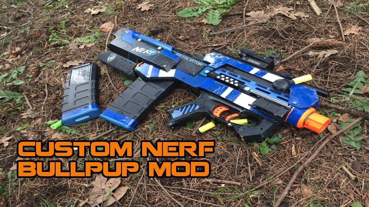 coolest nerf retaliator ever jankpup tactical nerf bullpup mod