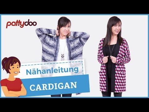 Cardigan aus Strickstoff nähen – Muster zuschneiden, Nahttasche, Zwillingsnaht und Bündchen