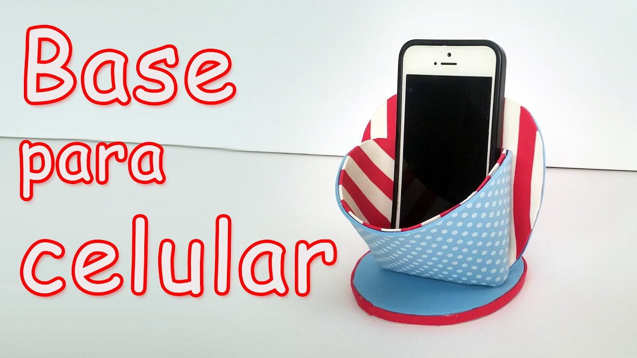 Base para celular manualidades para todos youtube for Aplicaciones para decorar el movil