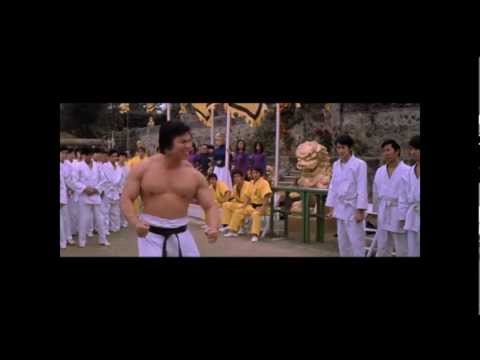 Bolo Yeung vs. Guards and John Saxon (Mr. Roper in Enter the Dragon)
