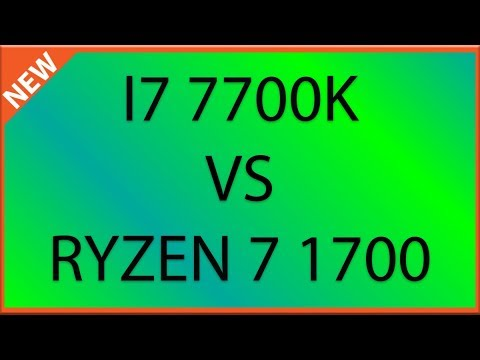 I7 7700k VS Ryzen 7 1700 In CPU Mining