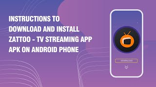 Instructions to download and install Zattoo - TV Streaming App APK on android phone screenshot 5