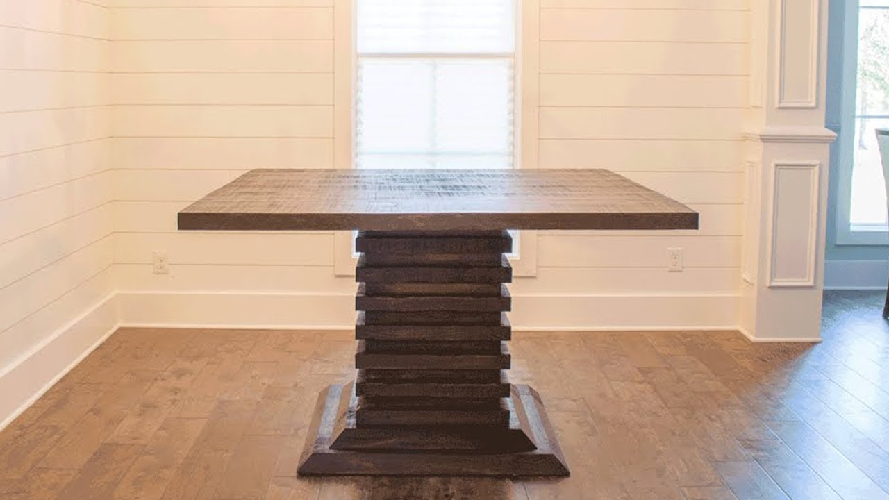 DIY Bar Height Dining Room Table! | Woodbrew Workshop ...