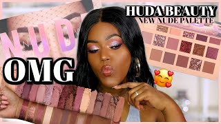 OMG!...GIRL! HUDA BEAUTY New Nude Eyeshadow Palette + Swatches