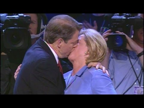 Politicians kiss and smolder