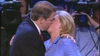 Politicians kiss and smolder