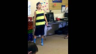 Andrew dances for the class