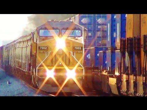 Union Pacific Train Meets CSX Intermodal Train