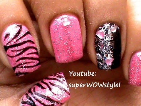 glitter nail polish design easy
