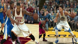 7 foot 7 steph curry vs 7 foot 7 lebron james who would win? nba 2k17 challenge