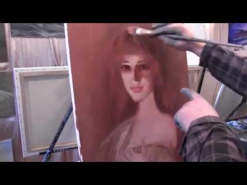 Живопись маслом для начинающих, уроки рисования в Москве, мастихиновый портрет