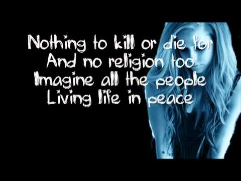 Imagine - Avril Lavigne lyrics