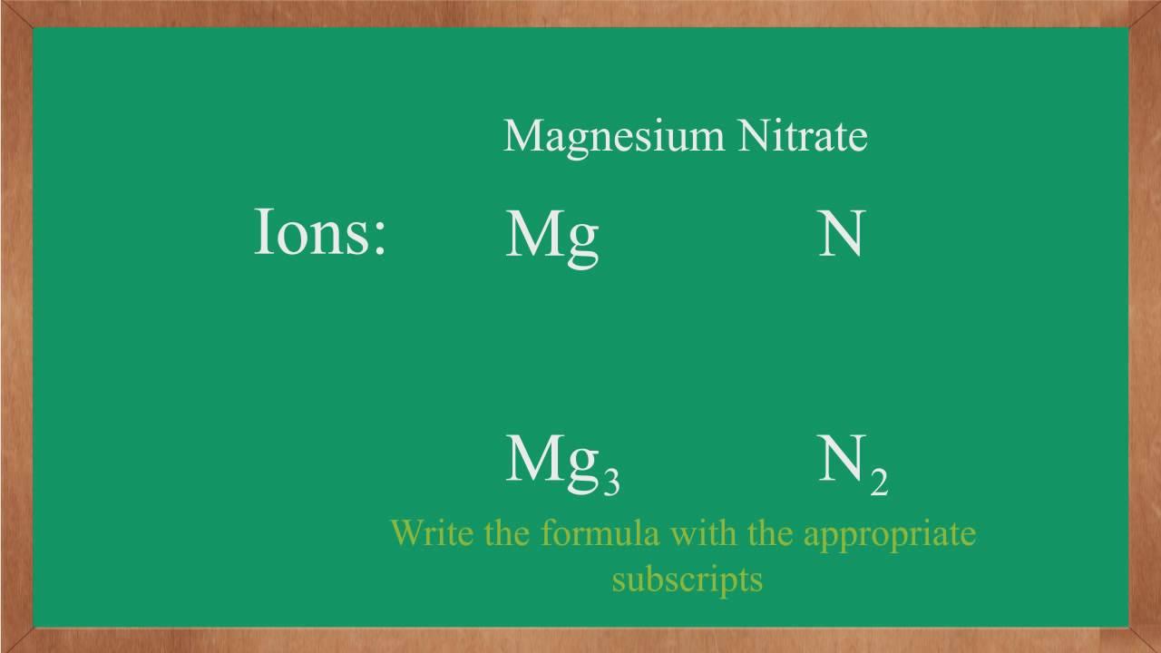 Writing ionic formulas magnesium nitrate youtube writing ionic formulas magnesium nitrate biocorpaavc