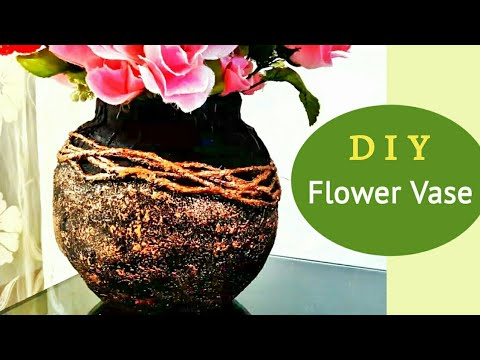 Flower Vase out of waste material   Best out of waste   Craft ideas   Plaster of paris craft   DIY