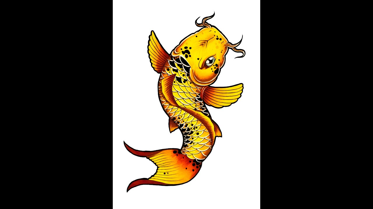 Uncategorized How To Draw A Koi Fish how to draw a koi fish tattoo style by thebrokenpuppet youtube