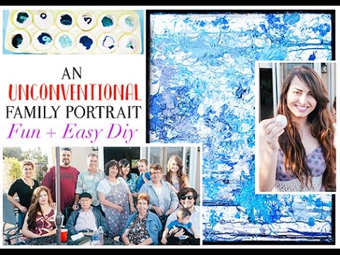 An Unconventional Family Portrait – Apartment Decor DIY or Family Gift – Paint Canvas Wall Art