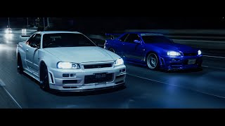 The Last Run - Two Skyline R34 GTR's | 4K
