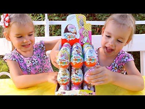 #1 Киндеры Барби Barbie Распаковка КОРОБКИ Киндер Сюрприз коробка Kinder Surprise Игрушки для детей