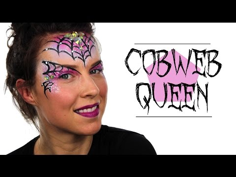 Cobweb Queen Face Painting | Ashlea Henson