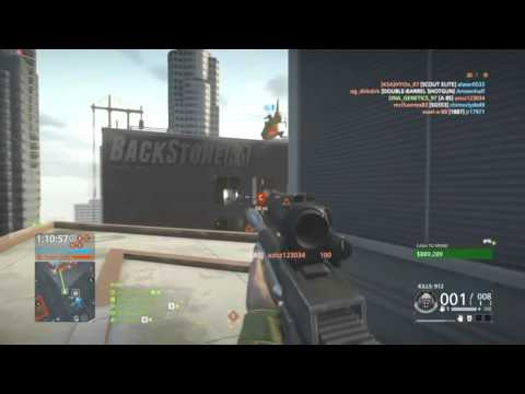 Battlefield Hardline A8S over 100 Kills (PS4) Gameplay