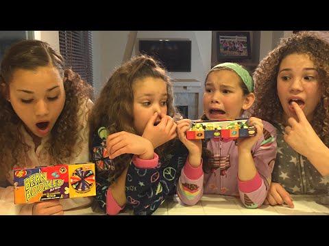 The Bean Boozled Challenge!  (Haschak Sisters)