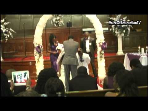 Wedding of Paul and Finda Hemerling At Christ's Voice of Restoration Ministries