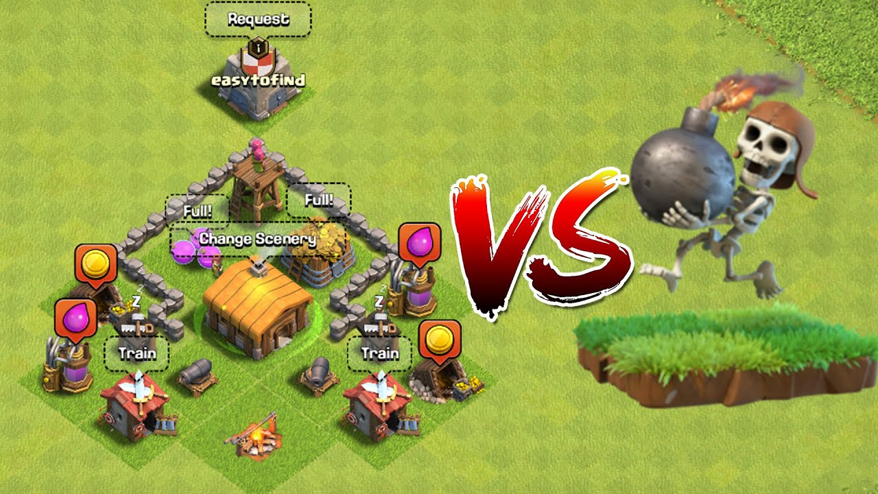 How many wall breakers can destroy a TH2? *shocking results*