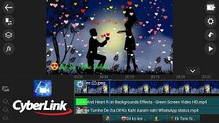 How to Make Trending WhatsApp status video in Cyberlink PowerDirector  || Full Hindi Tutorial