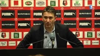 Philippe Montanier commente le match Rennes-Lorient (2-2)
