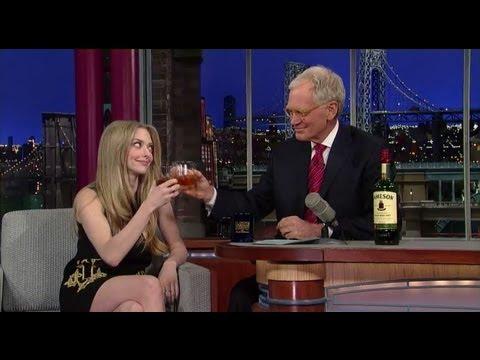 Amanda Seyfried Drunk on Letterman!