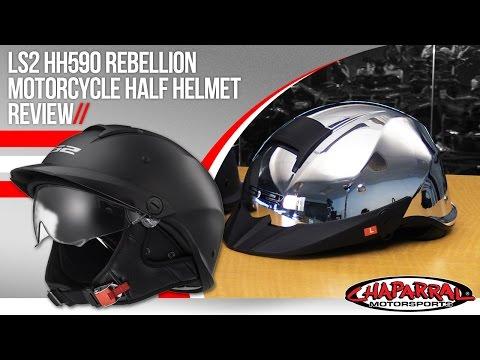 LS2 HH590 Rebellion Motorcycle Half Helmet Review