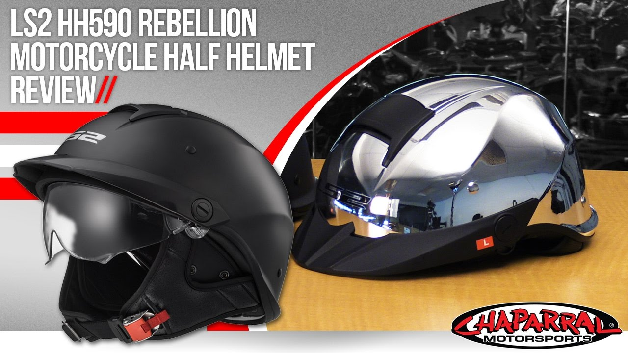 8fffd047 LS2 HH590 Rebellion Motorcycle Half Helmet Review - YouTube