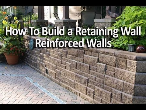 How To Build A Reinforced Retaining Wall Using Geogrid Allan Block